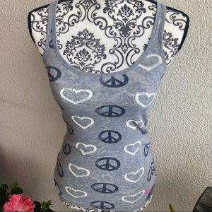 Victoria's Secret Pink Heart & Peace Tank Top